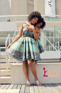 Mommy & Me 1 - Ethnic Printed Sundresses - hugs